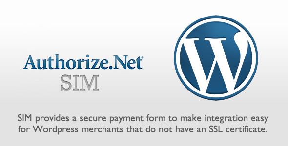 Authorize.net SIM WordPress Plugin